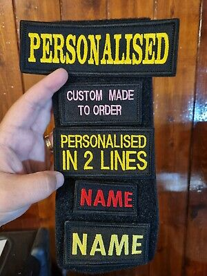 £2.99 • Buy PERSONALISED Embroidered Name Tag  AIRSOFT Custom Patch Sew On  Hook And Loop