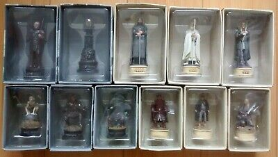 £45 • Buy Eaglemoss The Lord Of The Rings Chess Collector's Pieces X11 ALL SET 1