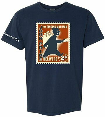 $17.99 • Buy John Prine The Singing Mailman Delivers T-Shirt - OH BOY RECORDS