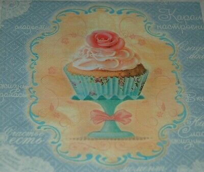 £2.39 • Buy 4 X Paper Napkins- Scrapbooking Decoupage Card Crafts -  French Sweets
