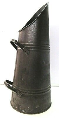 £16.99 • Buy Vintage Black Metal Coal Scuttle Hod Bucket With 2 Handles, 23  Tall
