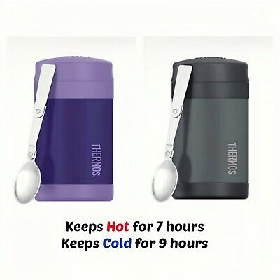 AU34.95 • Buy THERMOS Funtainer S/S 470ml Vacuum Insulated Food Jar With Spoon