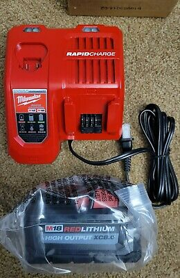$155 • Buy Milwaukee M18 Red Lithium High Output 8.0Ah Battery 48-11-1880 & Rapid Charger