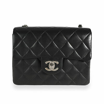 £2517.26 • Buy Chanel Black Quilted Lambskin Mini Square Classic Flap Bag