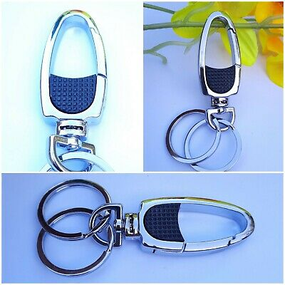 £2.98 • Buy Double Key Ring Buckle Bag Belt Clip Hook Key Chain Carbiner Clasp Keyring 1Pc