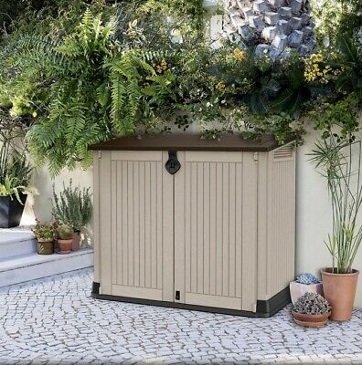 £185 • Buy Keter Store-It Out Midi Outdoor Plastic Garden Storage Shed, Beige  BNIB