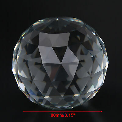 £10.93 • Buy Cut K9 Crystal Sphere 80mm Faceted Gazing Glass Ball Clear Prisms Hotel Decor