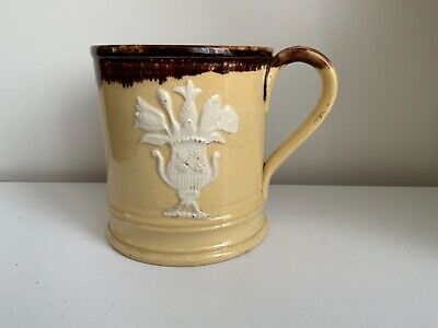 £24.99 • Buy Antique English Staffordshire Pearlware Pineapples, Flowers In Vase Motifs  Mug