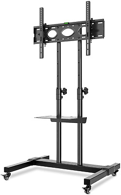 £114.84 • Buy RFIVER Tall Mobile TV Stand Rolling Movable For Most 32 -70  Flat Curved TVs TV