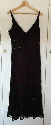 £15 • Buy Black Beaded Detail Evening Dress From Principles Size 16