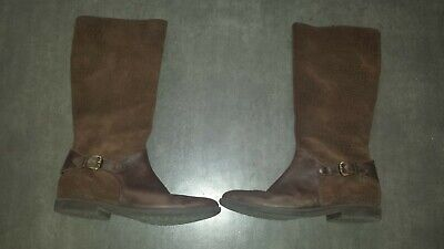 £40.77 • Buy Garvalin Size 38 Girl Boots Leather And Suede Brown Good Condition Autumn Winter