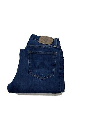 $19.97 • Buy Eddie Bauer Mens Relaxed Fit Blue Denim Flannel Lined Jeans (Size 33x34