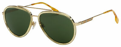 $132.50 • Buy Burberry Oliver Sunglasses BE 3125 101771 59 Gold | Green Lens