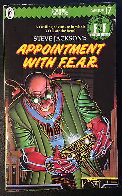 AU27.80 • Buy APPOINTMENT WITH F.E.A.R. Fighting Fantasy #17 1985 1st/1st Green Banner VG+