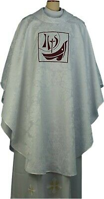 £150 • Buy  Chasuble Set White Floral Damask, Priest, Catholic, Anglican, Vicar, Church