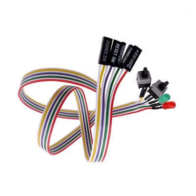 £4.39 • Buy ATX PC Computer Motherboard Power Cable 2 Switch On/Off/Reset With LED Light 25