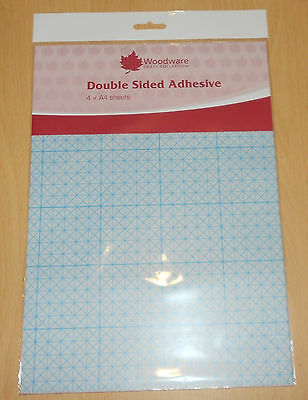 £4.97 • Buy 4 X A4 Sheets DOUBLE SIDED ADHESIVE SHEETS By Woodware   As Used On TV  Die Cuts