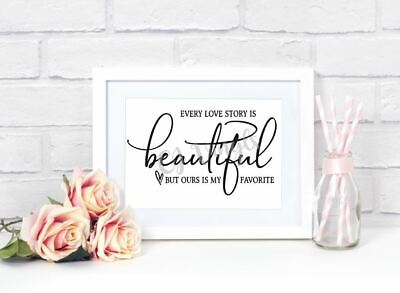 £3.99 • Buy Love Story Vinyl Decal Sticker For Frame Home Decor Plaques Boards Birthday Gift