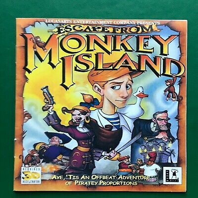 £16.34 • Buy PC Game ESCAPE FROM MONKEY ISLAND 2-Disc Set Windows Lucas Entertainment Complet