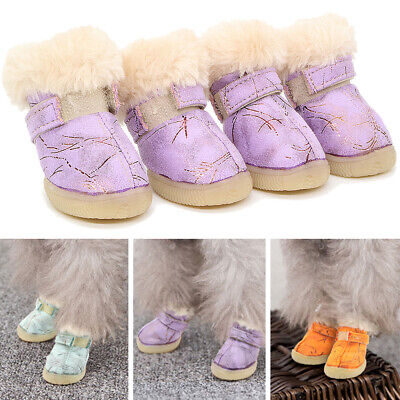 £10.85 • Buy Warm Winter Dog Boots Puppy Shoes Protective Anti-slip Snow Boots Paw Protection
