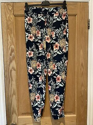 £24 • Buy Fat Face Harem Trousers Size 10 Cuffed Lounge Yoga Pants Excellent Condition