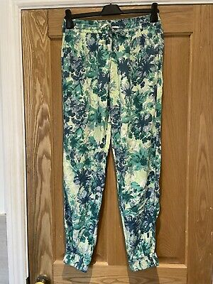 £24 • Buy Fat Face Harem Trousers Size 10 Cuffed Lounge Pants Yoga Excellent Condition