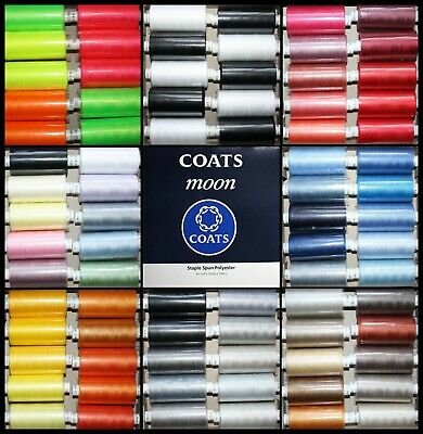 £9.99 • Buy Boxes Of Mixed Packs - Coats Moon Polyester Sewing Thread - 1000 Yard Reels