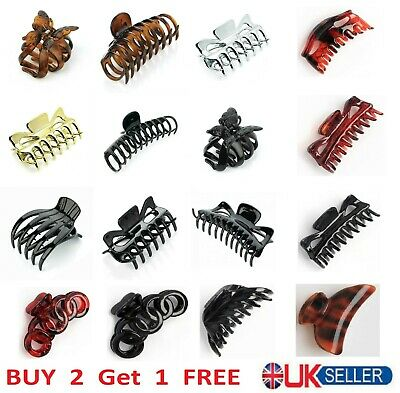 £2.89 • Buy Ladies Large Hair Claw Clamps Clips Butterfly Claw Clamp Hair Accessories UK
