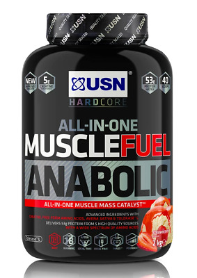 £24.99 • Buy Strawberry Flavour USN Muscle Fuel Anabolic All-In-One Lean Muscle 2kg