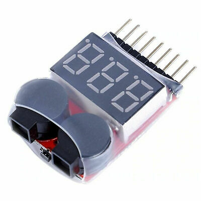 £2 • Buy Lipo Battery Low Voltage Alarm 1S-8S Volt Tester LED Display UK Stock Brand New