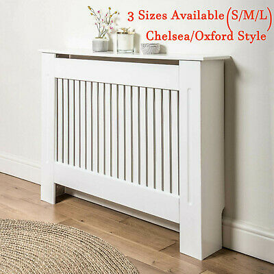 £50.36 • Buy Radiator Cover Vertical Grill Modern MDF White Wood Wall Cabinet Home Furniture