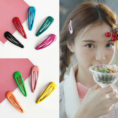AU1.14 • Buy Women Candy Color Hair Clip Snap Barrette Stick Hairpin Hair Accessories Popular