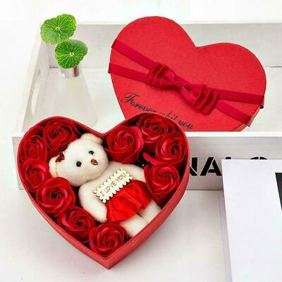 AU5.98 • Buy Valentine's Day 10 Flowers Soap Flower Gift Rose Box Bouquet Bears 1 Gift X M5Z1