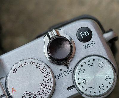 £3.85 • Buy High Quality Shutter Button Soft Release Metal Concave Black Olympus PenF Fuji