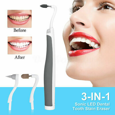 £8.99 • Buy 3 Heads Teeth Cleaning Kit Brush Polishing Stain Remover Whitening Grinding Head