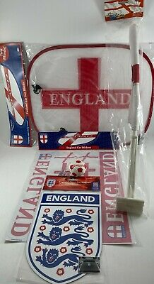 £13.95 • Buy ENGLAND 2020 SUPPORTER BUNDLE Window Blinds Flag OFFICIAL FA CREST Stickers Ball