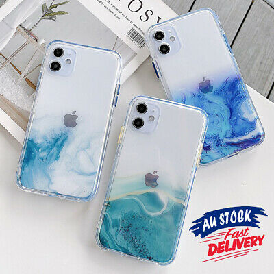 AU7.99 • Buy For IPhone 12 11 Pro Max 8 Marble Slim Clear Shockproof Case Cover Glitter CAS#
