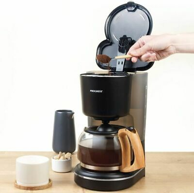 £29.99 • Buy 12 Cup Filter Coffee Maker Machine WITH WOOD EFFECT FINISH Coffee Machine UK