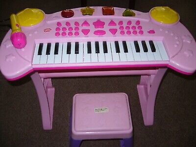 £8.99 • Buy Chad Valley Girls Light And Sounds Pink Keyboard And Stool