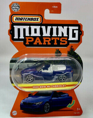$4.79 • Buy 2020 BMW M4 Cabriolet * Blue * 2021 Matchbox Moving Parts Case L IN STOCK