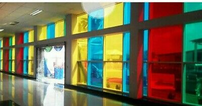 £1.49 • Buy Transparent Coloured Window Film Stained Glass Self Adhesive Vinyl Fablon