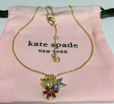 $ CDN44.94 • Buy Kate Spade New York First Bloom Cluster Pendant Necklace New
