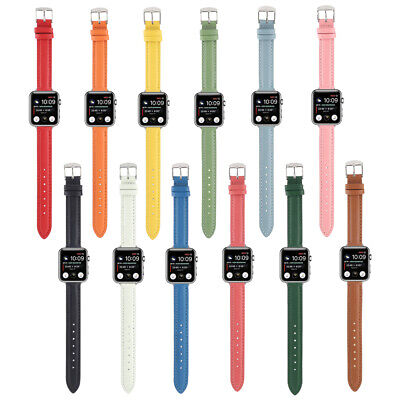 AU12 • Buy 40/44mm Slim Leather Band Women Strap For Apple Watch Series 6 5 4 3 2 IWatch SE