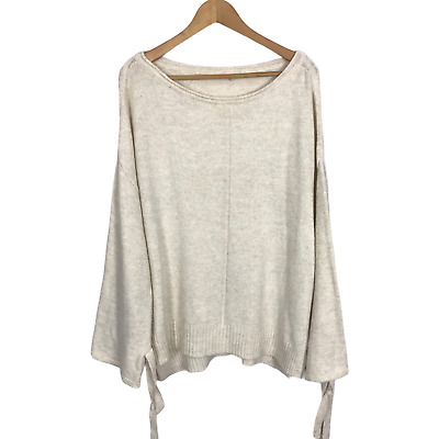 £11.99 • Buy River Island Size Medium Ivory Knit Slouchy Fit Long Sleeve Stretch Jumper