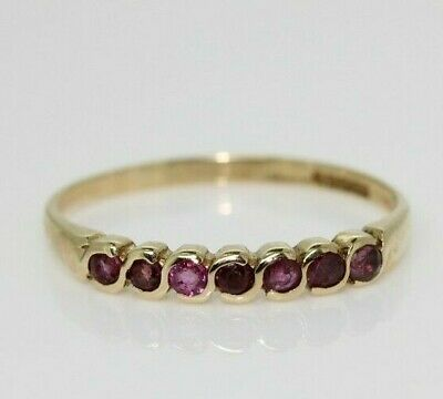 £95 • Buy 9ct Yellow Gold 0.15ct Ruby Eternity Ring (Size O 1/2, US 7 1/4)