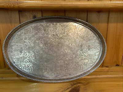 £50 • Buy Silver Gallery Tray - Viners Of Sheffield Alpha Plate