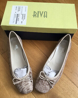 £4.20 • Buy Riva Beige Reptile Print Ballet Flat Shoes  Size 37  Uk 4   New With Box