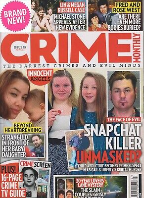 £3.99 • Buy Crime Monthly Magazine Issue 27 June 2021 New Free P&p Fred Rose West Snapchat
