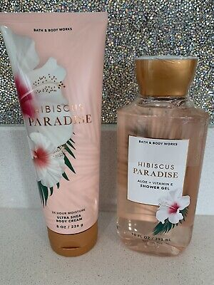 £20 • Buy Bath And Body Works Hibiscus Paradise Shower Gel And Body Cream Set