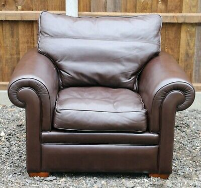 £500 • Buy Duresta Garrick Brown Leather Armchair - Great Condition - Free Delivery